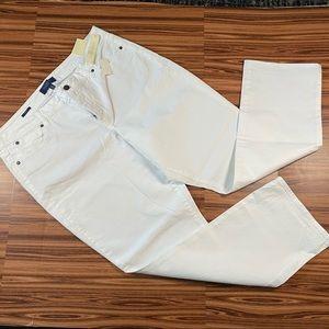 Talbots Straight Curvy White Jeans Size 16P NWT